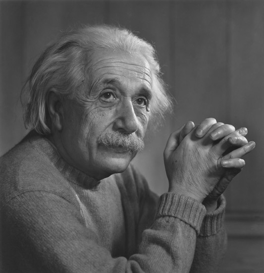 Albert Einstein by Yousuf Karsh, aCurator
