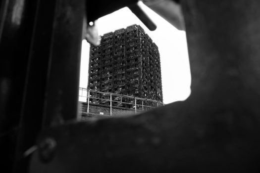 Grenfell Tower from Silchester Road.