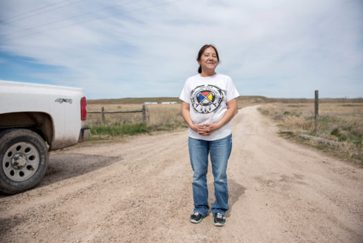 The Pine Ridge Indian Reservation is an Oglala Lakota Native American reservation located in the state of South Dakota. The non-profit organization One Spirit invited Gudrun Georges to document their monthly food drive. One Spirit is not church affiliated and is the only outside organization approved by the Sioux tribal council.