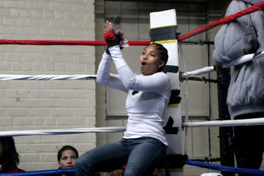 Girls as young as 15 fight in the ring.