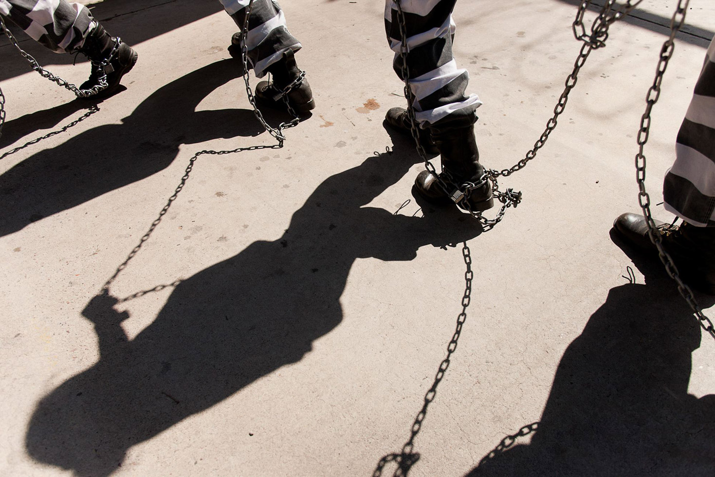 The chains of a female chain gang, in Phoenix.