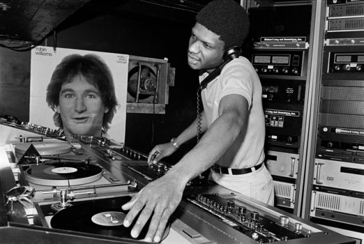 Larry Levan during his decade-long residence at Paradise Garage.