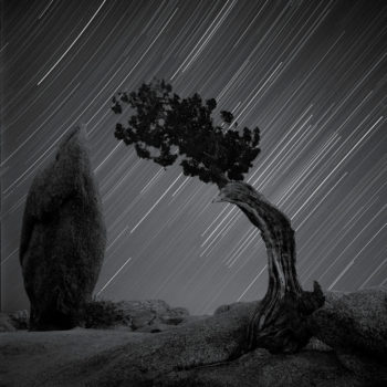 Stars Behind Pinyon and BalancedRock