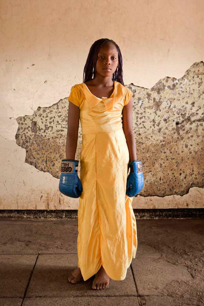 """Patricia Esteve's portraits were made at """"Boxgirls"""" in Korogocho, a Nairobi slum. """"This local association promotes boxing in areas where sexual abuse towards women and girls is very common."""""""