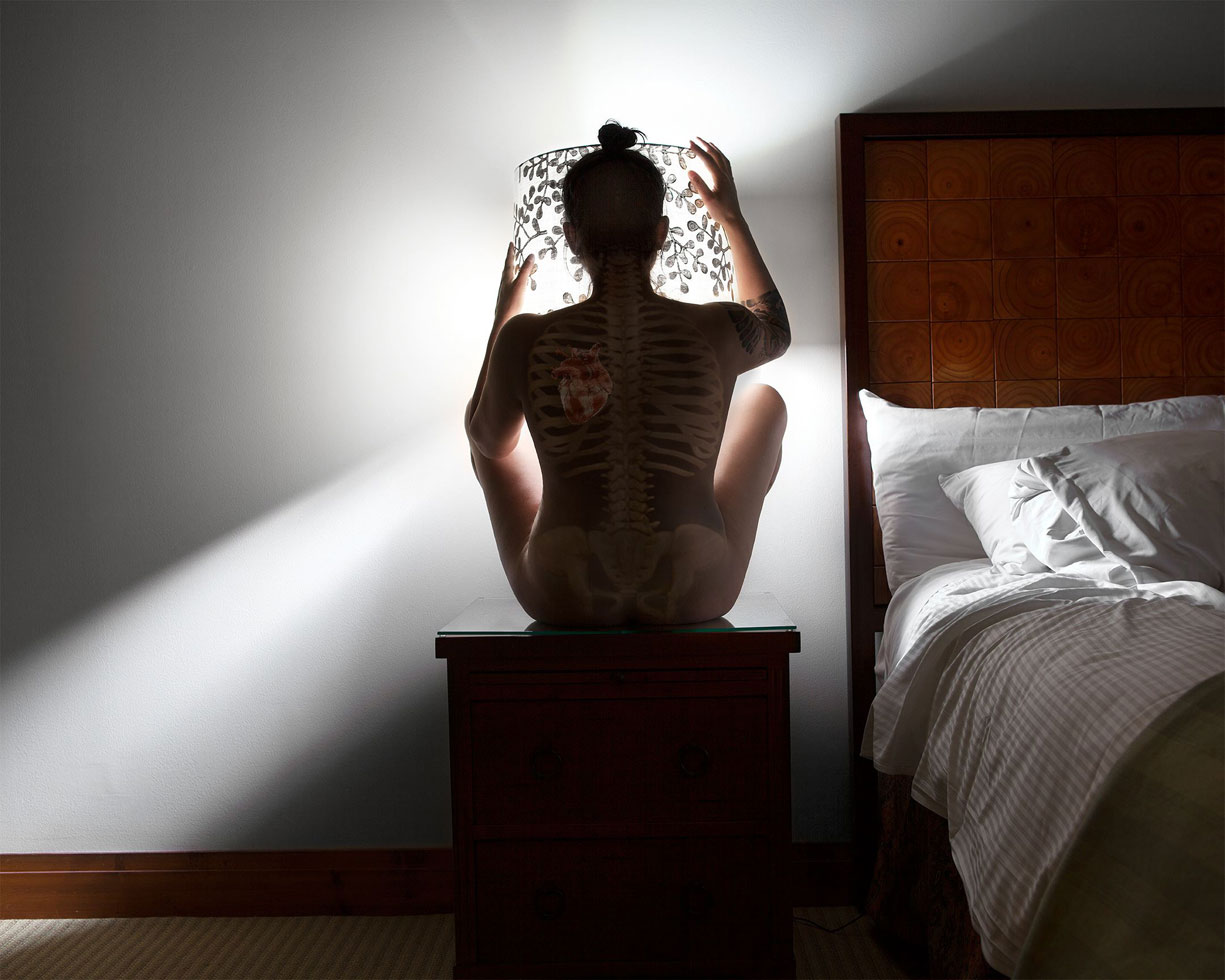 Rocio De Alba confronts her own neurosis, using photography to replace other, less healthy habits.  Go Towards the Light