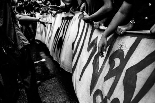 In September 2014 a young woman was molested and her boyfriend beaten up by 10 fellow students of Jadavpur University, Kolkata. The general student body demanded an unbiased investigation but were denied.   Protests followed in Kolkata, and other cities. The police were called in and beat the protesters. Avinandan Sthanpati is in Kolkata and recorded one of the demonstrations.