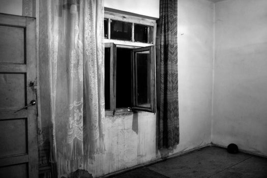 My first ball was the only thing I found in this house, my early childhood home.  Tirana, Albania, 2012