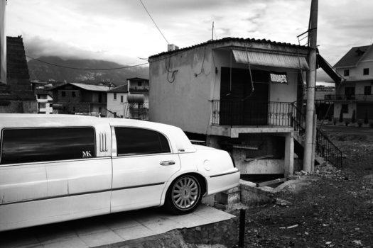 A tailor shop in the suburbs of Tirana.  Tirana, Albania, 2013