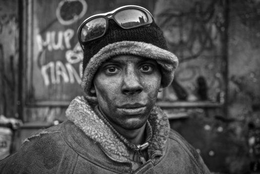 Boy protestor, Kiev.  Ukraine.