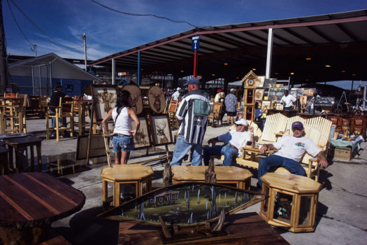 Inmates sell their furniture at the arts and crafts area behind the rodeo stadium. The arts and crafts items are sold by the prisoners, with all financial transactions overseen by the guards. Likewise, some inmates earn the right to the sell food and snacks at concession stands.