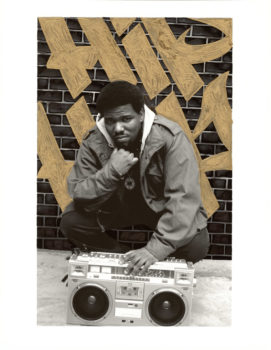 Original photos by Janette Beckman, reworked by New York graffiti artists