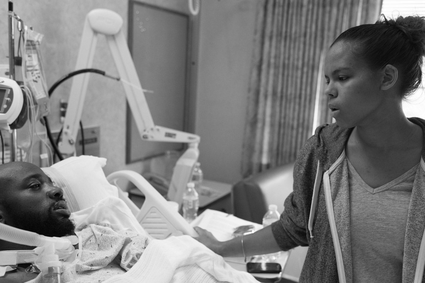 Atiff, along with his nephew, Troy, was shot during a robbery in Philadelphia. Troy was hit once and killed almost immediately. Atiff was shot 15 times and lived, although he remains paralyzed from the neck down. His wife Carissa will need to care for him for the rest of his life.