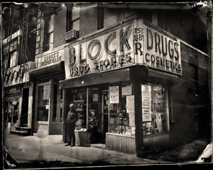 Collodion wet plate photography of changing New York