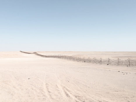 Graziani's Fence (270 km of barbed-wire). Near Jaghbub, Libya