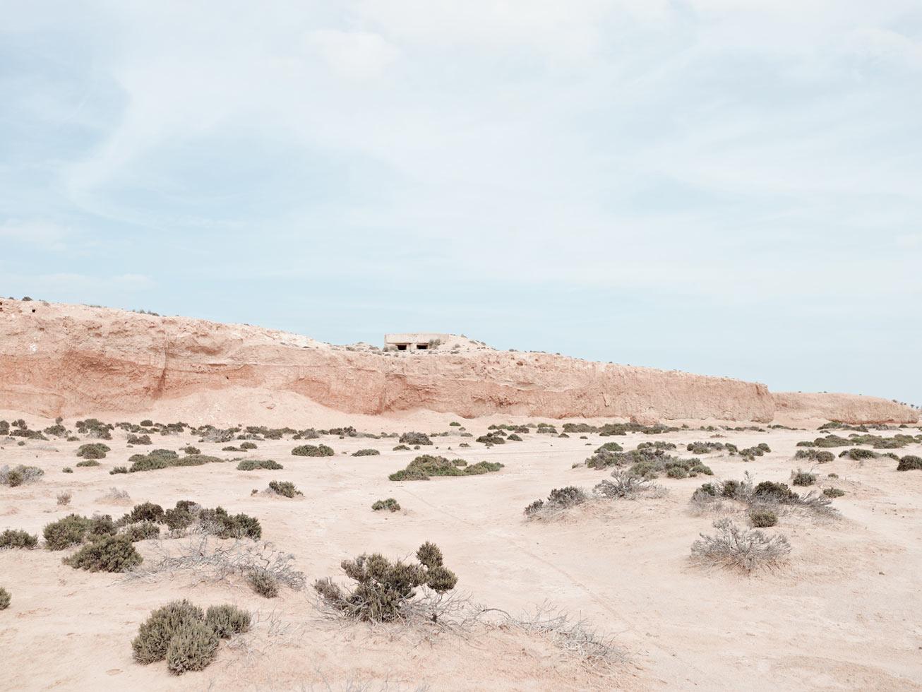 Pillbox overlooking Wadi Zig Zaou.  Mareth Line, Tunisia