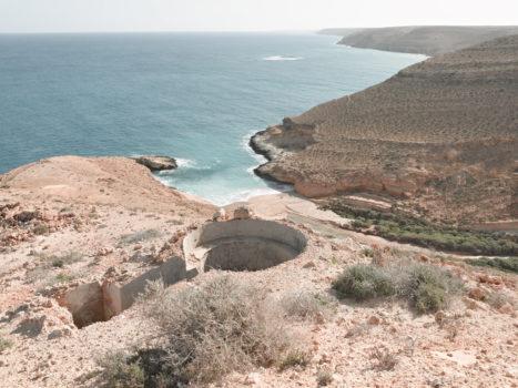 Bunker Z101 overlooking Mersa Zitoune, Wadi Zitoune Battlefield. Tobruk perimeter, Libya