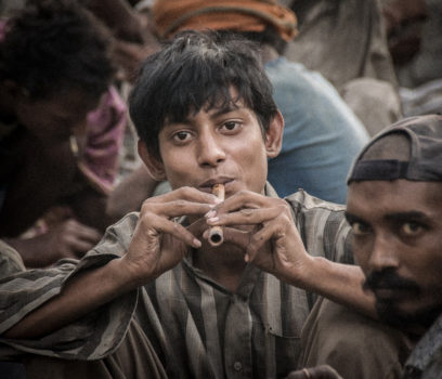 """Half the addicts encountered are children. Their days are spent in the nearby railway area of the Wazirabad cargo depot. Moreover, their addiction continues well into adulthood."""