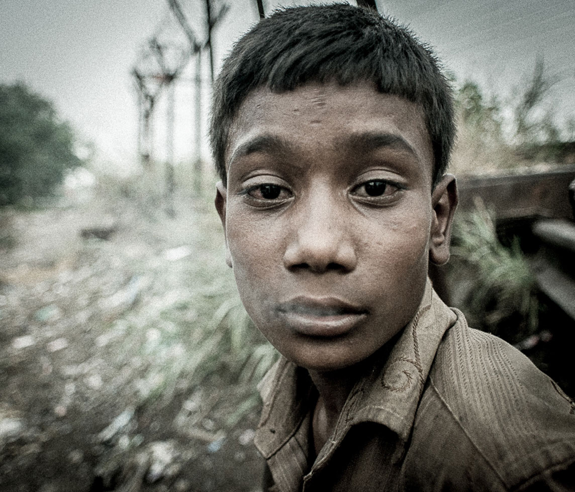 """""""These addicts occupy a crack in society and governance and continue to waste away as prisoners to their own addiction,"""" says photographer Rituparna Banerjee of the hundreds of homeless men, women and children living in the Yamuna Bazaar in Delhi."""
