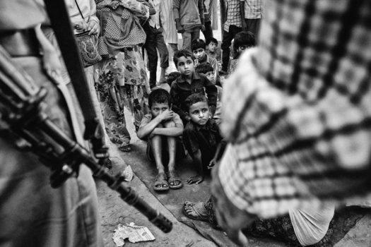 A group of Muslim children in a relief camp in Muzzaffarnagar.