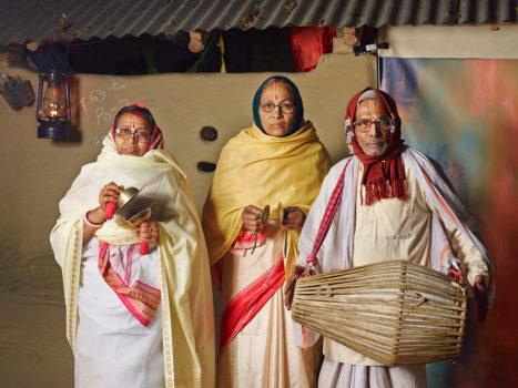 Kirtan singers, who sing in praise of Krishna $7.50 weekly