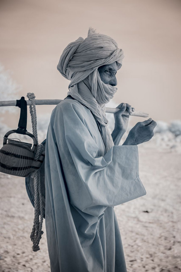 A Tuareg nomad and his teapot