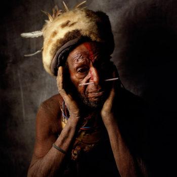 New Guinea Tribesmen. The Mendi Highlands, Papua New Guinea, 1991