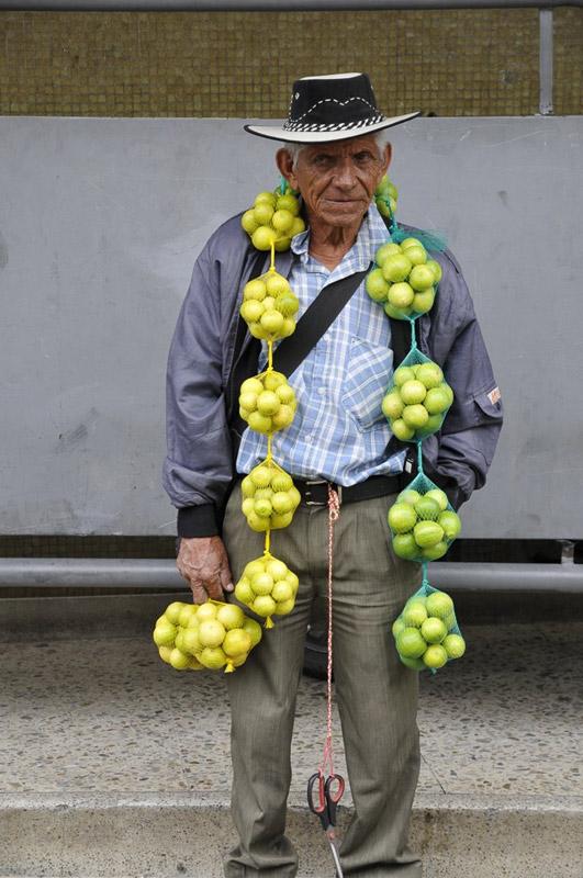 Lothar Troeller, Germany/USA  'Lemon Man,' Medellin, Colombia.