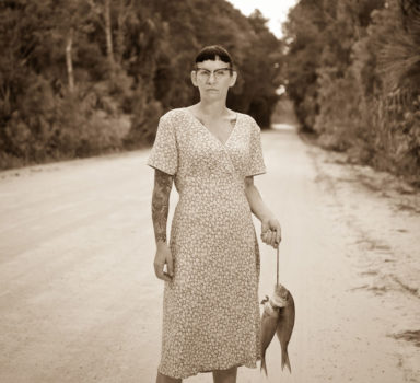 Woman Carrying Fish, by Jeremy Scott (USA)