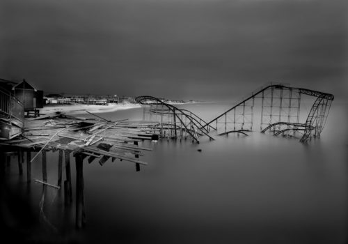 After Superstorm Sandy, the entire town of Seaside Heights, of which Michael's family are long-time residents, was under marshall law. But Michael managed to get access to the pier and take this.
