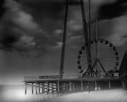 Funtown Pier. Michael did a lot of surfing in his youth and started the 'Afterlife' portfolio as his homage to those long, lonely days.