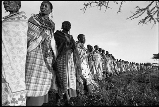 """""""Life is in community."""" African proverb  Maasai women at a blessing ceremony which takes place every seven to ten years. They spend several days talking about their problems and participating in organized rituals that have been handed down by their ancestors.   Southern Kenya 1995"""