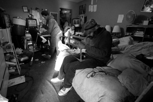 The Abdullahs - Mahir, Denise, and their son, Shadeed - live at the Western Motel, one of the oldest motels in El Camino Real in Santa Clara, California. They pay $50 to keep their room each day; they have now been living in the room for two years straight.