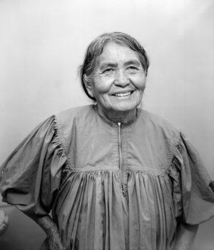 Phoenix, Arizona State Fair, 1977  She was wearing an Apache dress.