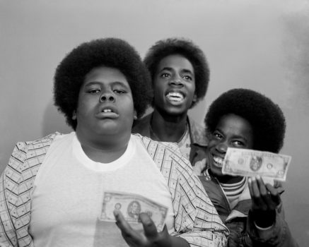 Pomona, Los Angeles County Fair, 1977  Some customers flashed big bills and loads of money. These kids had to dig deep in their pockets to find some old, wrinkled bills to show.