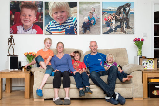 Dimitri and Esther with kids Demi, Dillen and Denzo (Aberdeen, 2014)