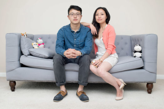 Maolin and Lin (Aberdeen, 2013) Maolin Liao and Lin Sun. They came to Aberdeen from Langzhong, Sichuan in China to study. I photographed them in their flat, which they bought for the period of study. They are getting married soon and are planning to return to China after finishing their PhDs. Foreign students are important to the Scottish economy: in Aberdeen alone the amount of money spent by international students every year is around £67 million.