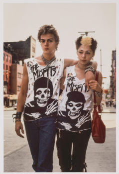 """Robert Herman   """"The Misfits, New York, 1981"""" (printed later)   Archival pigment print. Museum of the City of New York. Gift of Jeanne Devine."""