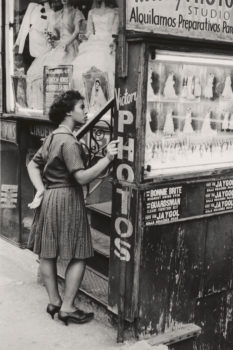 """Ruggero Rugarli  """"Victory Photos, Lower East Side"""" 1960 (printed later)  Gelatin silver print. Museum of the City of New York. Gift of Massimo Rugarli."""