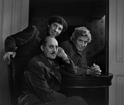"""Yousuf Karsh   """"Marx Brothers, 1948 (printed later)  Gelatin silver print. Museum of the City of New York. Gift of Paul E. Greenberg."""
