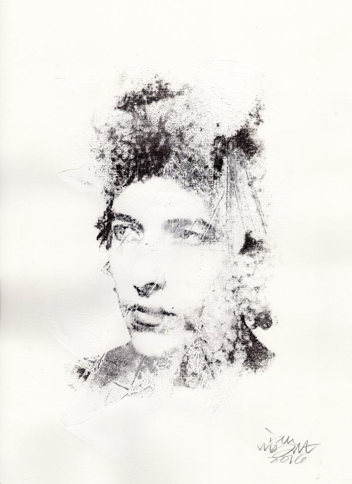 """Ian Wright: Bob Dylan (mixed media). 10x14"""", signed. @misterianw"""
