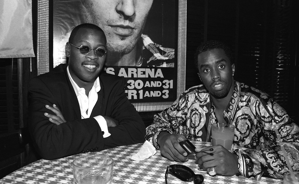 Andre Harrell and Sean Combs, NY, 1995 © Catherine McGann. Click here to buy