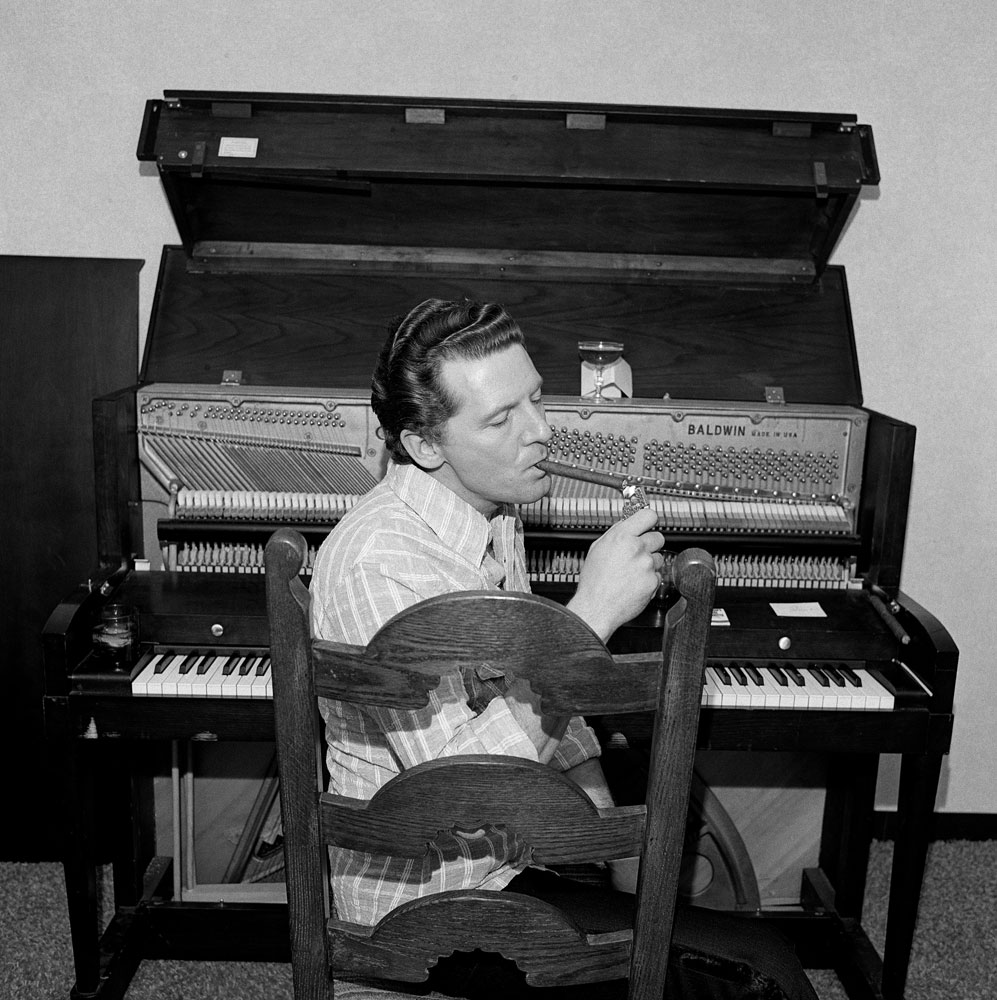 Jerry Lee Lewis, Boston, 1976 © Henry Horenstein/courtesy of ClampArt