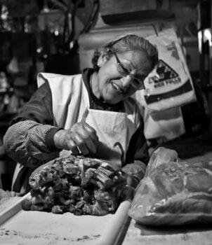 Meat Vendor, Cusco, Peru