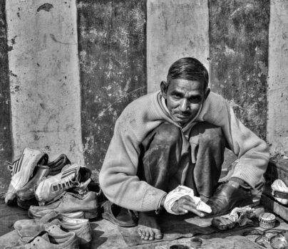 Shoe Shiner, Rajasthan, India