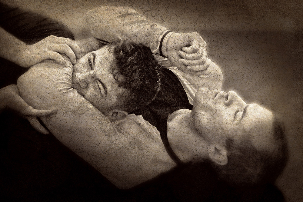 """""""The images came from attending a Jiu-Jitsu competition with my son. As I watched, I became fascinated by the contenders' faces. Even at the peak of the competition, when effort and strain were extreme, their faces still reflected individual personalities rising to the challenge."""""""