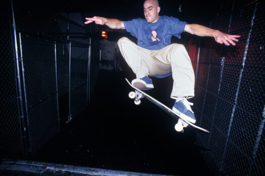 Half pipe at the very back of the Tunnel, circa 1993
