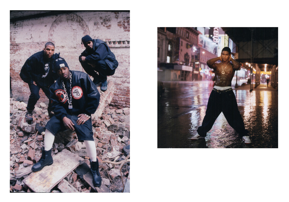 """Naughty by Nature, 1989, and Usher, 1999, by Michael Benabib. Two 11""""x14"""" archival digital prints, signed. $200 donation @classichiphopartists"""