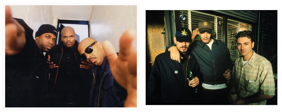 """Run-DMC, 1995, and House of Pain, 1993, by Michael Benabib. Two 11""""x14"""" archival digital prints, signed. $200 donation @classichiphopartists"""