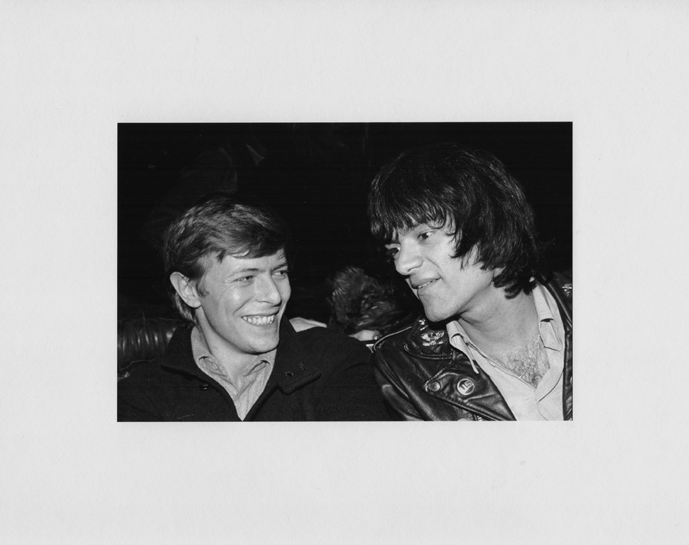 "David Bowie and Dee Dee Ramone, by Bobby Grossman. 11""x14"" archival digital print, signed, editioned A/P.$200 donationSOLD 