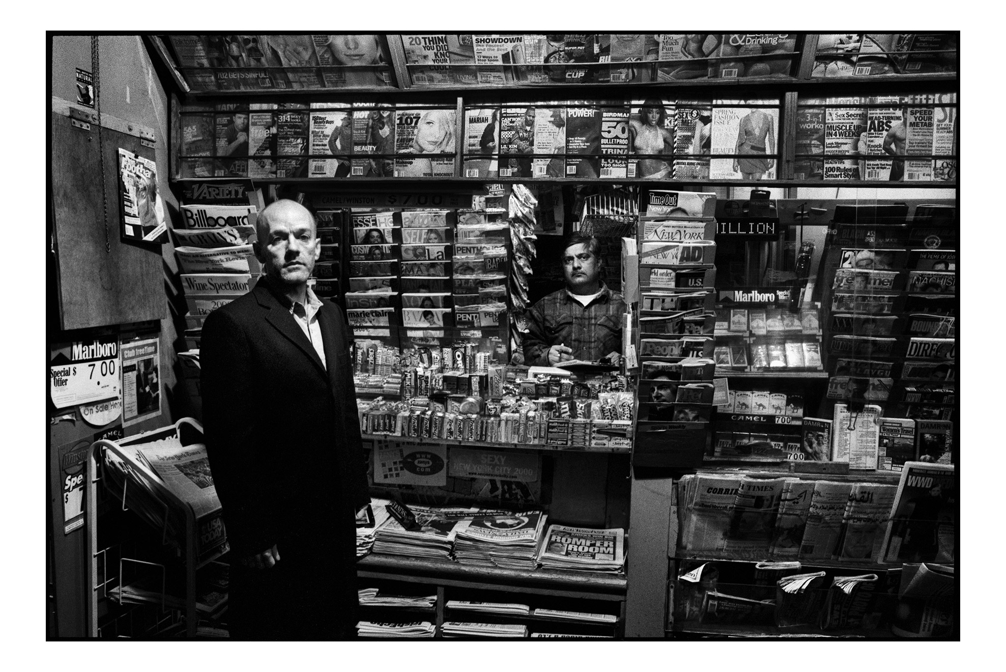 "Michael Stipe, Times Square, 2003, by Danny Clinch. 11""x14"" archival digital print, signed. $200 donationSOLD 